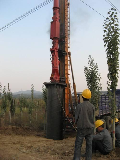 鋼管桿基礎打樁